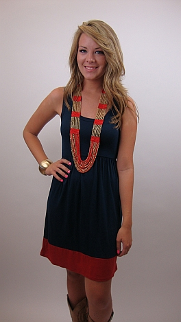 Bottom Line Dress, Navy