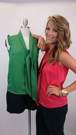 Sweet Sophistication Top, Green