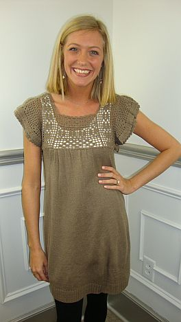 On Angels Wings Tunic, Mocha