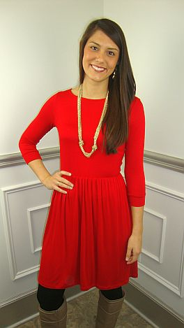 The Whitney Dress, Red