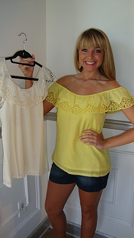 Yellow or Cream Salsa Top