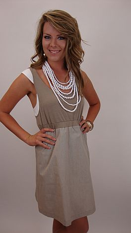 Over The Taupe Dress