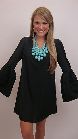 Sleevey Nix Dress, Black