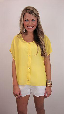 Mellow Yellow Top