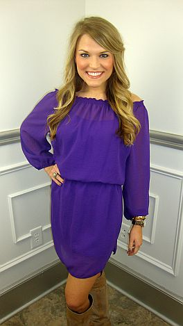 The Leslie Dress, Purple