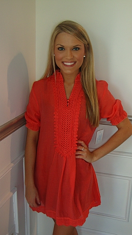 Electric Coral Frock