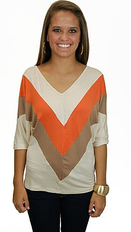 Queen V Tee, Taupe