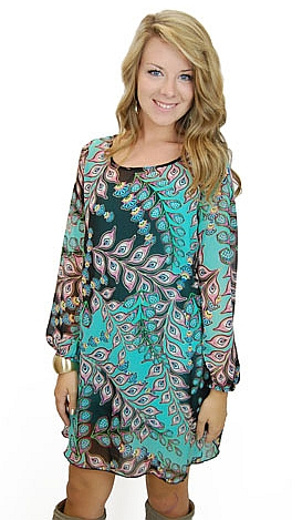 Fortune Teller Dress, Mint