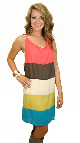 Neopolitan Slip Dress