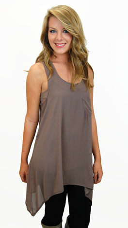 Awesome Layering Tank, Taupe