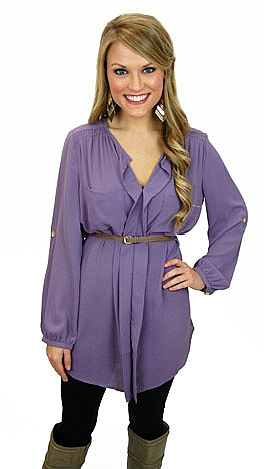 Double Whammy Tunic, Purple