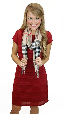 Double or Nothing Dress, Crimson