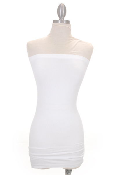 Famous Strapless Slip, White