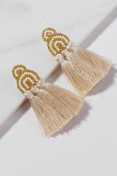 Cream Trio Earrings