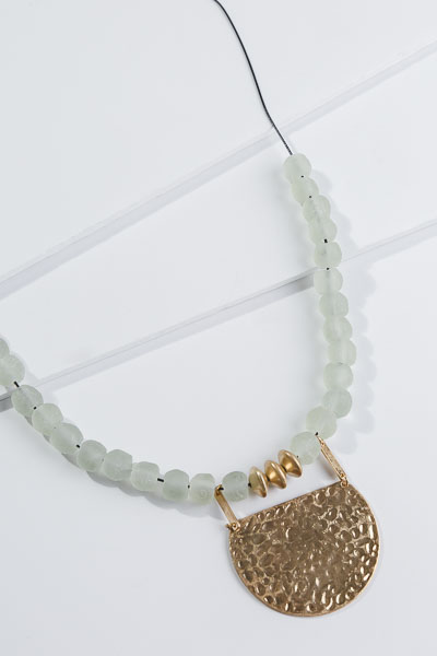 Hammered Plate Necklace