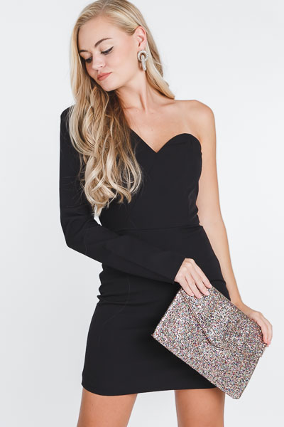 Single Sleeve Cocktail Dress