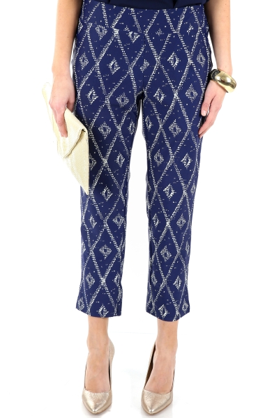 Liquid Heaven Pants, Navy Diamond