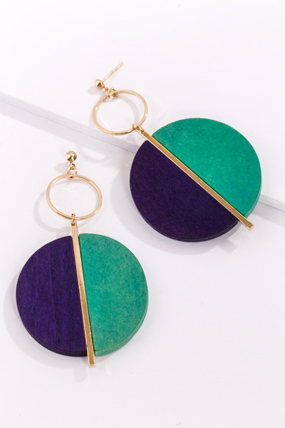 Wood Love to Earring, Mint