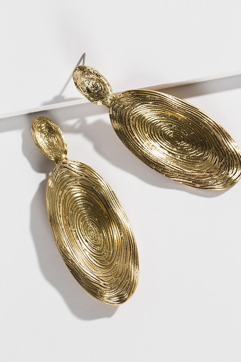Tree Ring Ear, Gold