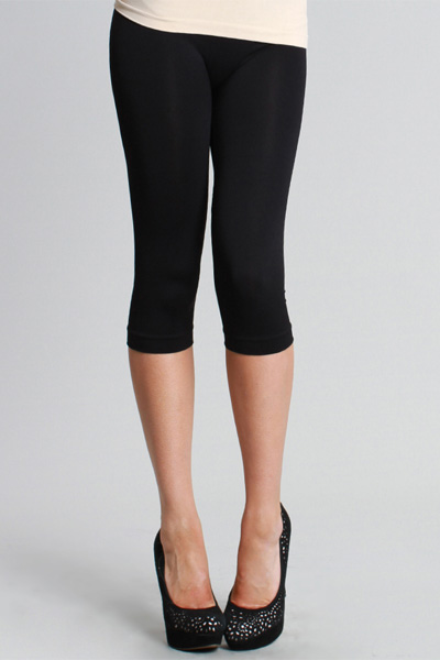 Magic Leggings, Black (Cropped)