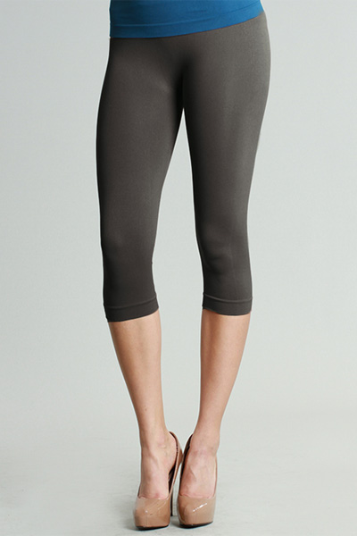 Magic Leggings, Charcoal (Cropped)
