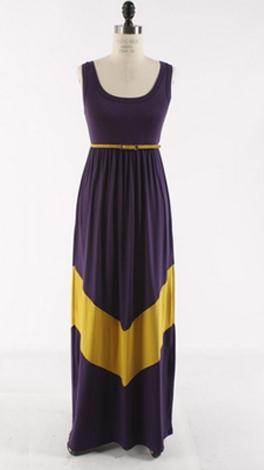 Chevron Stripe Maxi, Purple