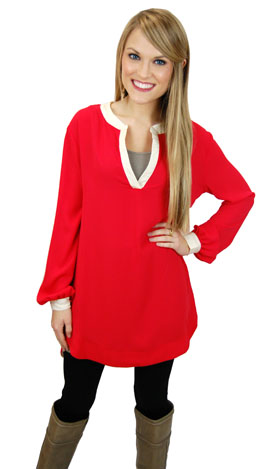 Class Act Tunic, Red