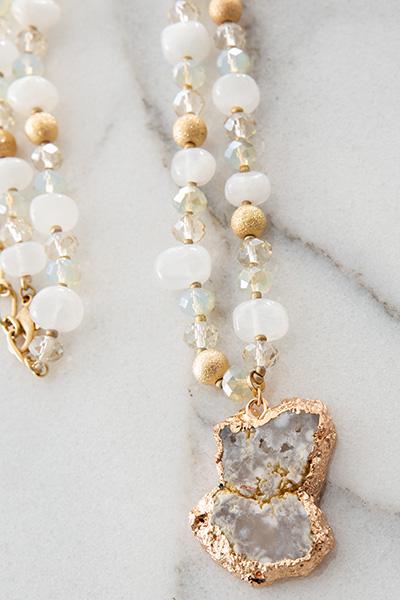 Feelin Genuine Necklace, White