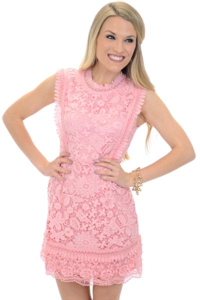 Lovers Lace Dress, Blush