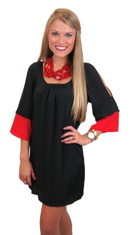 Rubbing Elbows Dress, Red