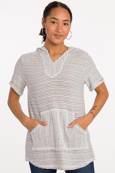 Summer Hoodie, Black Stripe