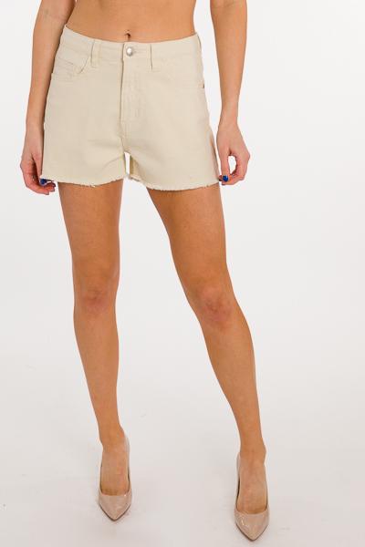 Soft Jean Shorts, Ivory