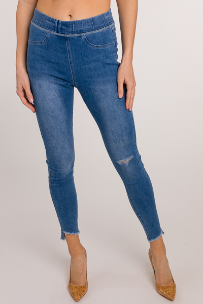 Dax Pull On Distressed Jeans