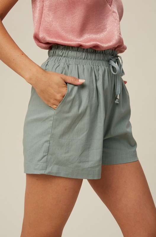 Crisp Linen Short, Sage