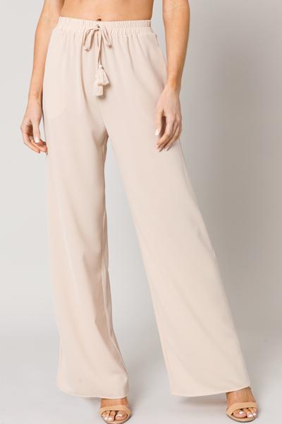 Panama Tassel Pants, Khaki