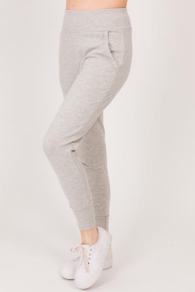 Soft Knit Joggers, Gray
