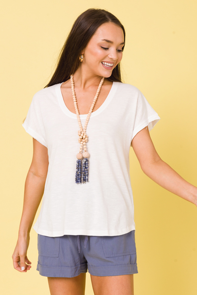 Scoop Casual Tee, Off White