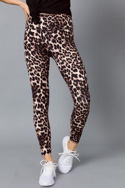 Butter Leggings, Brown Cheetah