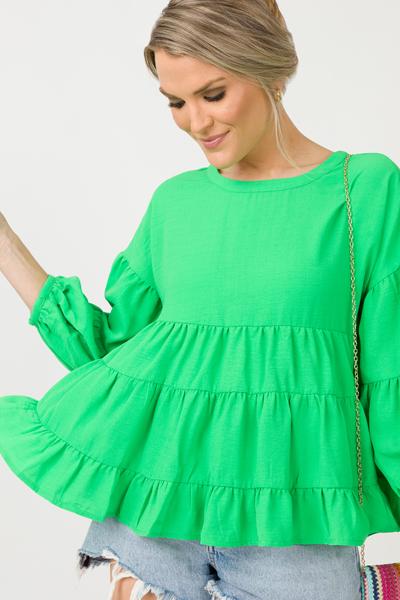 Tricia Tier Top, Green