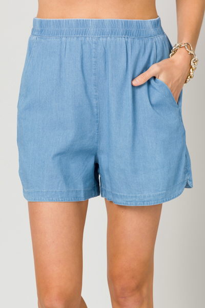 Ellen Denim Pull On Shorts