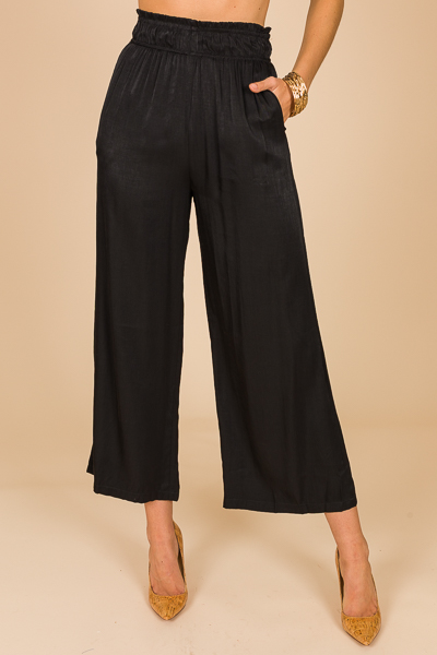 Wide Leg Glam Pant, Black