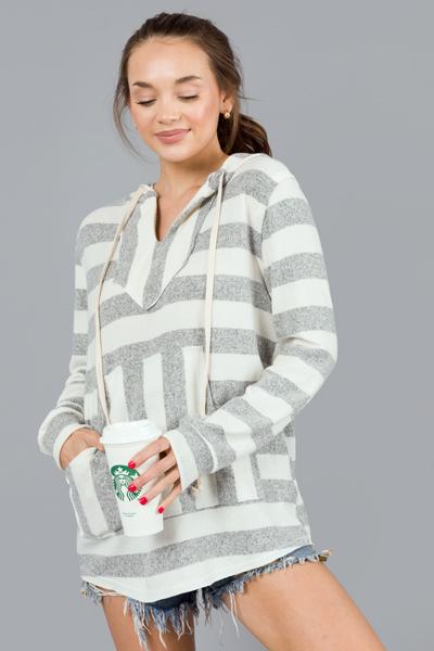 Sailor Stripes Hoodie, Grey