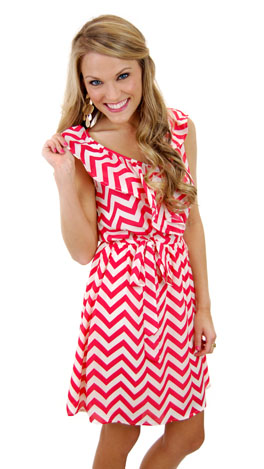 Harbour Town Dress, Coral