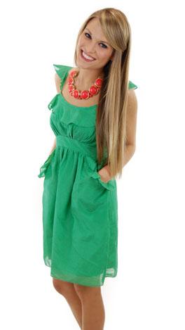 Lawn Party Dress, Green