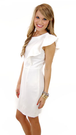 Charlotte Dress, White