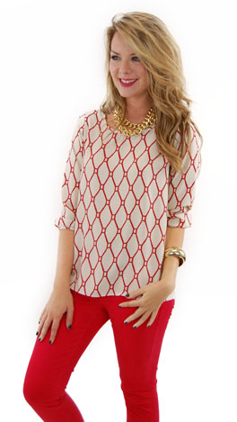Red Ropes Blouse