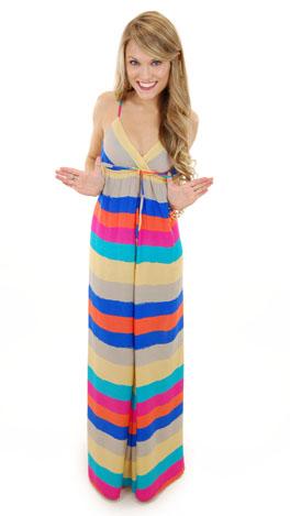 Tybee Stripes Maxi