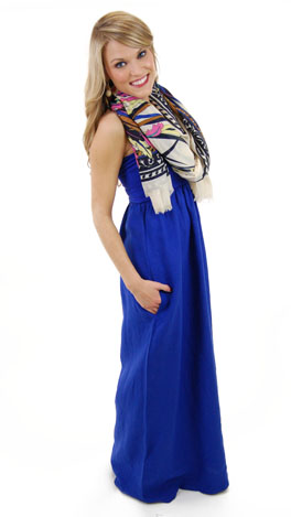 Linen Tube Maxi, Royal