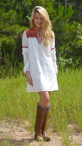 Harvest Moon Dress, White