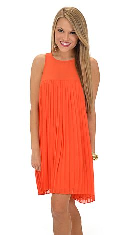 Orange Accordion Dress